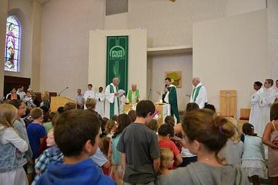 Prière avec les enfants du caté